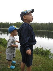 Boys at Lake sherd